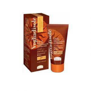 Crema solare 10+ abbronzante antirughe